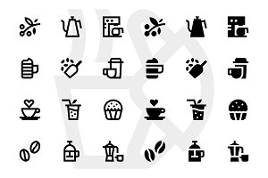 Coffee house icons