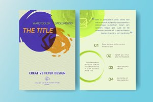 Aquarelle Business Flyers, eps 10