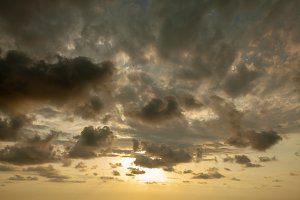 Fantastic sky, dramatic sunset, beau