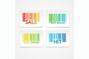 Vector barcode sale labels