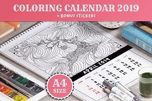 Coloring Book Xmas Calendar 2019