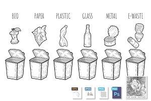 Garbage sorting process