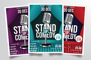 Stand Up Comedy Vol.1 Flyer Template