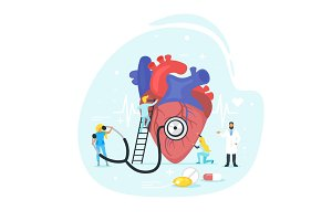 Heart treatment concept.