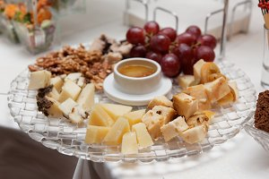Cheese platter on banquet table