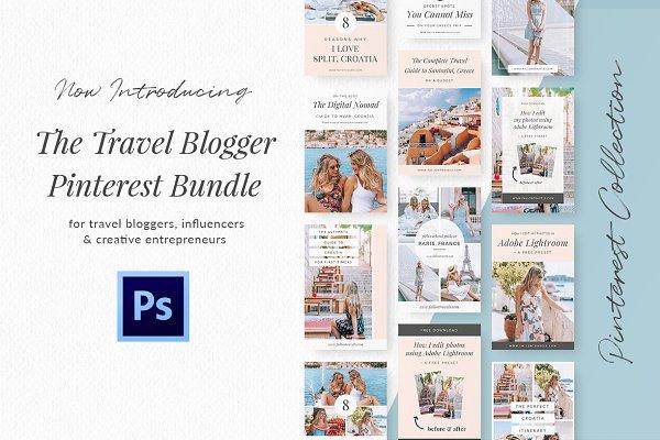 Travel Blog Pinterest Kit- Photoshop