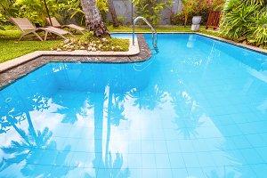 Nice swimming pool in courtyard