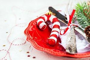 Christmas table place setting, Holid