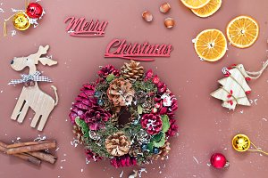 Mery Christmas background with