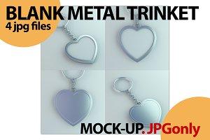 Blank metal trinket. Template
