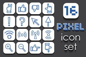 16 Pixel icons set.