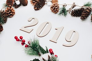 Christmas and New Year composition