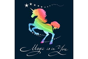 Rainbow unicorn background