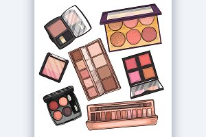 Color illustration of makeup product
