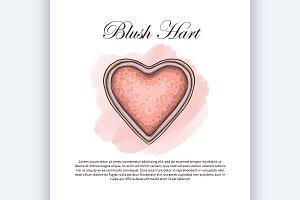 sketch of a single blush