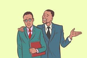 African businessman comforts