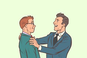 Businessmen friendly meeting