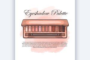 sketch of an eyeshadow palette