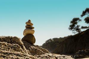 Stacked stones. Zen (3)