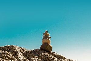 Stacked stones. Zen (1)