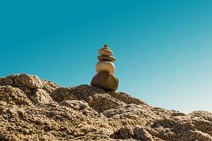 Stacked stones. Zen (4)