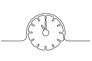 Clock with arrows icon on white