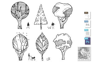 Architectural trees drawings