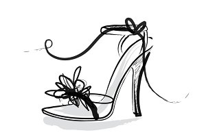 shoes/heels/sandals vector