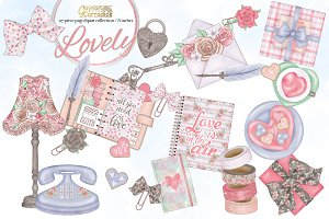 Lovely- Valentine clipart collection