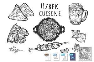 Uzbek cuisine menu