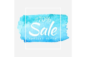Winter Sale banner. Vector