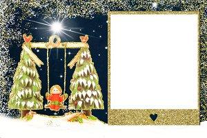Christmas photo frame card.