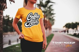 T-Shirt Mockup Template (Female)
