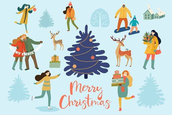 Graphics: Taya - Winter Christmas cards and patterns.