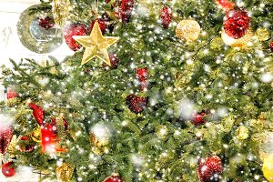 Christmas tree decoration stars orna