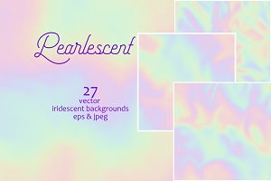 Pearlescent. Vector backgrounds.