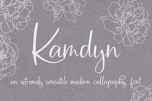 Kamdyn Calligraphy Font + Extras
