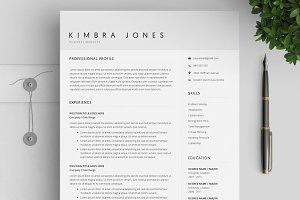 Resume Template / 4 Pages CV