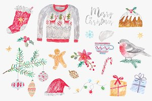 Christmas clipart set