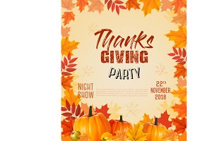 Happy Thanksgiving Party Flyer