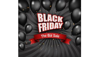 Black Friday Sale Poster. Vector