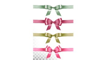 Big set of colorful gift bows