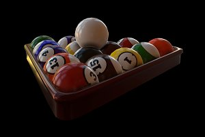 Pool Balls and Triangle Rack