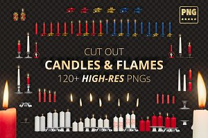 Candles & Flames Bundle - PNGs