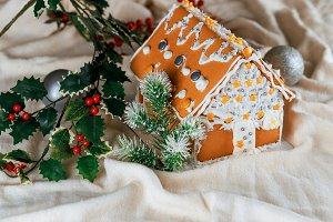 Homemade gingerbread house Holiday
