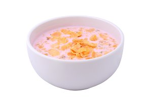 Bowl with cereals in yogurt