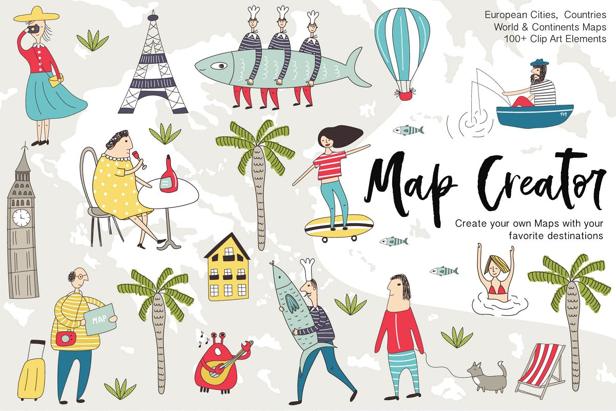 Map Creator.Map Creator Illustrations Creative Market