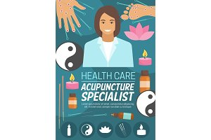 Medicine or spa, acupuncture doctor