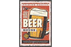 Pub or bar poster, beer tankard