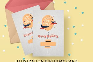 Illustration Birthday Card